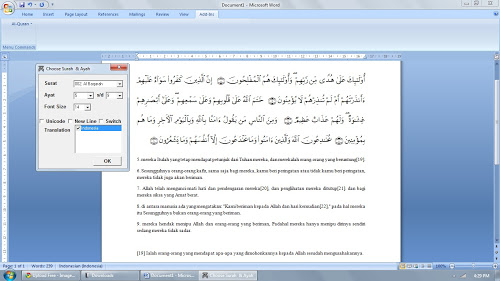 Qur'an In Word 2007