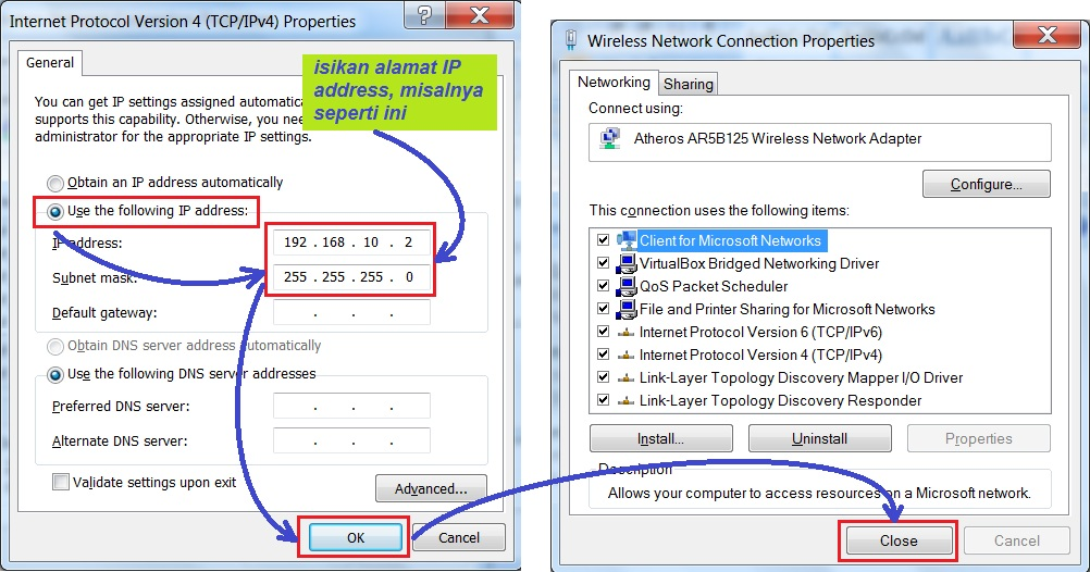 how to find ip address of laptop windows 7