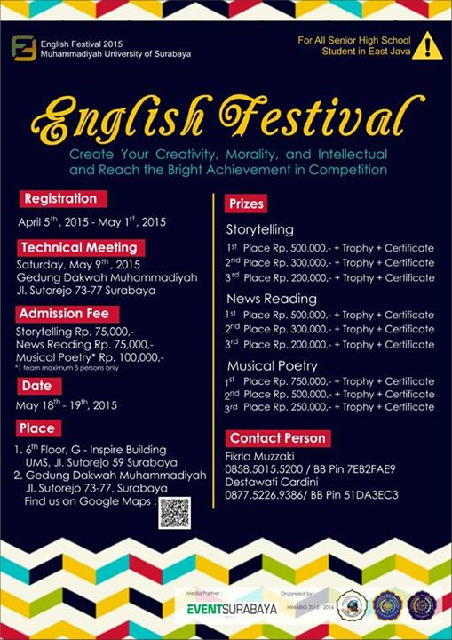 English Festival  2015 Universitas Muhammadiyah Surabaya